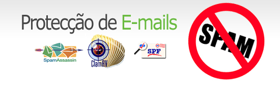 Protecção anti-virus e anti-spam para e-mail